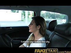 hardcore, blowjob, faketaxi.com, hungarian, romanian, pov, shaved, doggy style, back seat, reverse cowgirl, busty, cum in mouth