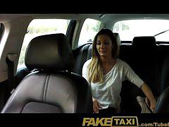 Faketaxi hot romanian girl in backseat blowjob