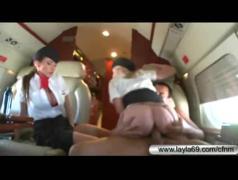 Cfnm wild fucking in private plane