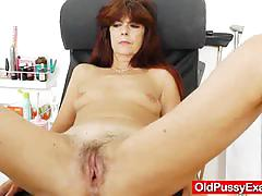 Gyno exam on old granny