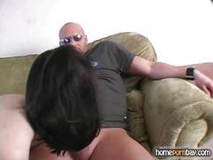 Blowjob from amateur brunette in hot amateur porn
