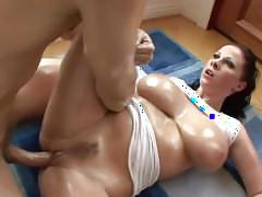 big tits, blowjob, big-boobs, brunette, wet-t-shirt, teasing, oil, doggy-style, face-sitting, handjob, rimming, 69, reverse-cowgirl, titty-fuck, piledriver, cum-in-mouth, natural-tits, big-ass, curvy