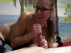 Hot german milf in stockings fucks a young boy