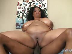 Big boobed bettie blac takes in a big dick