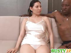 Busty sophia takigawa gets oiled up with black guy