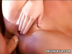 Dazzling asian ashley blue brutal anal fuck