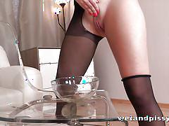 pissing, babe, solo, stockings, fetish, skirt, piss drinking, brunette, wet and pissy, puffy network, diana dali