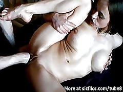 Busty milf double fist fucked to a wild orgasm