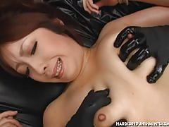 fetish, hardcorepunishments.com, japanese, hairy, close up, natural tits, moaning, loud, toys, bdsm, bondage