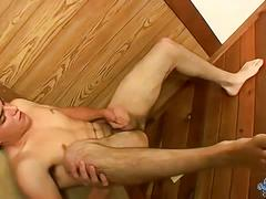 Boy next door alexxx wanks his dick