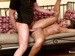 Perfect german step-sister get hard fucked by monster dick