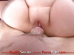 Fat slut fucked ! grosse salope bien enculee !! french amateur