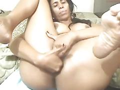 Big tits and ass latina slut perfectmilf69 fingers dirty holes