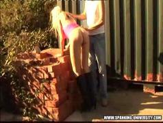 Girl spanked