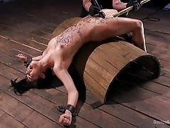 small tits, bdsm, babe, torture, domination, dildo, vibrator, tied up, restraints, candle wax, device bondage, kink, the pope, gina valentina