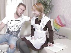 babe, redhead, schoolgirl, russian, blowjob, fingering, cosplay, anal fingering, big dick, 21 sextury, yura x, kira roller