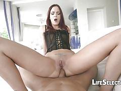 small tits, redhead, big cock, blowjob, hardcore, euro, european, pov, interactive, interactive porn, anal, life selector, lyen parker