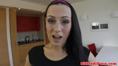 Amateur fucking a big italian cock pov