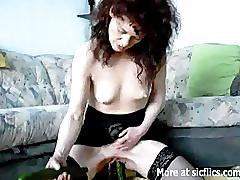 amateur, mature, sicflics.com, insertion, extreme, bizarre, vegetable, wife, cucumber, fuck, pussy, toy, object, bottle, milf