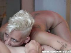 Wild girl works a hard cock