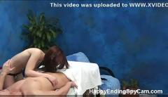 Shy teen seduces massage client caught on spy cam