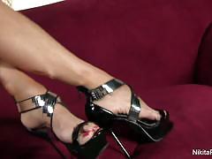 Feet tease with sexy nikita von james