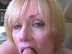 mature, blowjob cumshot, milf