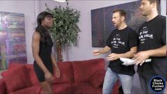 Alluring ebony ana foxxx loves to be white dick stuffed