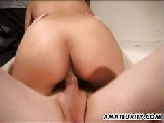 French amateur girlfriend anal action with facial