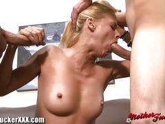 Slutty milf gang banged by big cocks