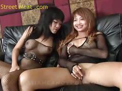 Thai threesome pim and nona