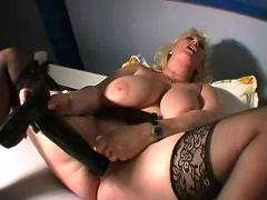 Blonde busty bbw mature