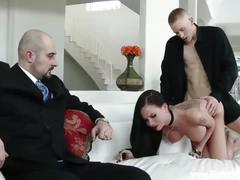 Husband lets his wife fuck a stranger