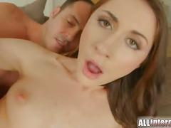Allinternal russian chick gets her awesome pussy filled with cum