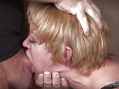 milf, blonde, threesome, bdsm, big tits, domination, big dick, mouth fuck, from behind, device bondage, sexually broken, matt williams, sergeant miles, dee williams