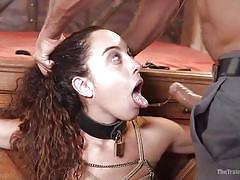 bdsm, babe, tied, domination, blowjob, submission, tits torture, rope bondage, tongue clamped, the training of o, kink, ramon nomar, roxanne rae