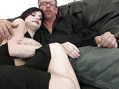 big ass, high heels, blowjob, couch, titjob, undressing, riding cock, pussy eating, brunette milf, hdv pass, tatiana kush