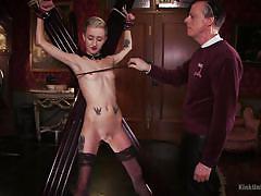 small tits, whip, bdsm, babe, punishment, slap, tattooed, workshop, educational, kink university, kink, cadence cross