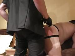 Horny fat daddy slave bends hard for some hardcore fucking