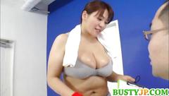 Mizuki has huge cans sucked at gym