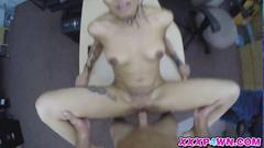 Sweet blonde chick pawns her ass in