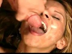 Cumwhore likes the taste of cum(cheryl cole look a like)