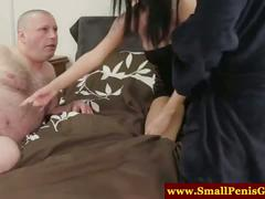 Small penis guy watch his girlfriend gets fucked