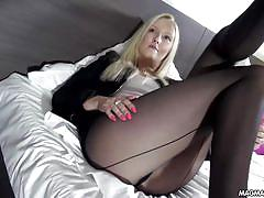 blonde, big tits, babe, german, stocking, cumshot, masturbation, blowjob, lingerie, fingering, magma film, bella blond