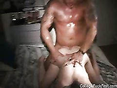 College amateur slut bent over and fucked at party