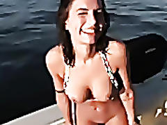 Drunk hottie amateur fucked on boat!