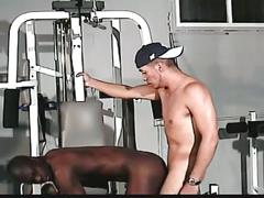 Thick latino cock stuffing tight black gay ass