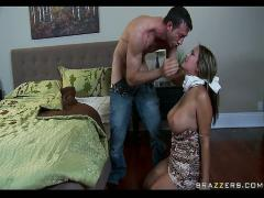 Big ass brunette housewife gets punished by angry husband for cheating