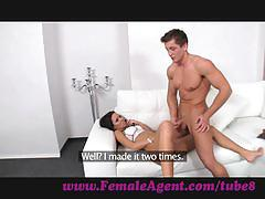 Femaleagent. well built stud shows amateur casting skills