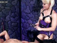 Ash hollywood femdom strapon ballbusting cbt chastity